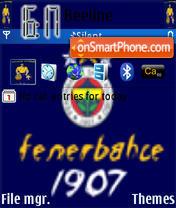 Fenerbahce sport club theme screenshot