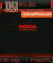 Nokia Red Glow theme screenshot
