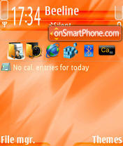 Orange 10 theme screenshot