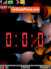 Animated Digital Clock. theme screenshot