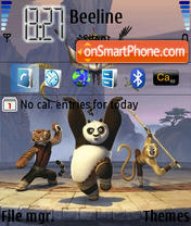 Скриншот темы Panda Kung Fu