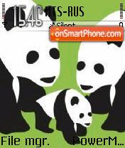 3 Panda es el tema de pantalla
