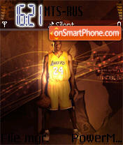 Kobe Bryant theme screenshot