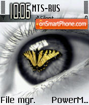 Butterfly Eye theme screenshot