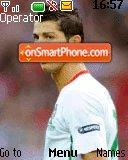 Ronaldo in Euro 2008 theme screenshot