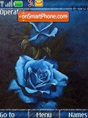 Capture d'écran 3d blue Flowers thème