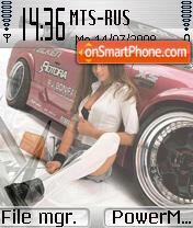 Nice car and girl es el tema de pantalla