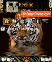 Tiger Wild theme screenshot