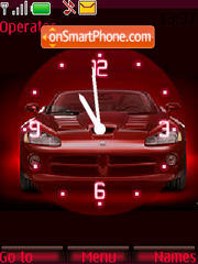 Car red clock Theme-Screenshot