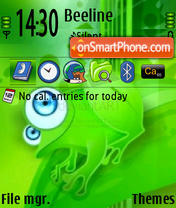 Frog theme screenshot