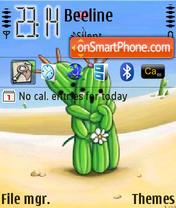 Скриншот темы Cactus In Love