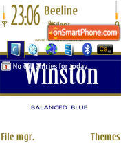Winston theme screenshot