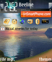 Animated Beach 02 theme screenshot