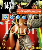 Скриншот темы Dior 02