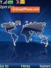 Скриншот темы World Map