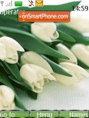 White Tulips theme screenshot