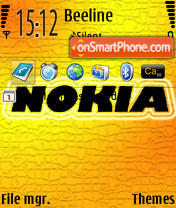Nokia 05 theme screenshot