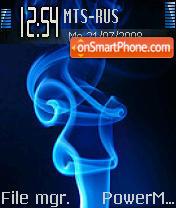 Blue Smoke theme screenshot