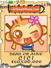 Скриншот темы Cute Monkey