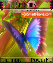 Rainbow Butterfly theme screenshot