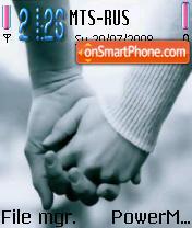 Lover Hands theme screenshot