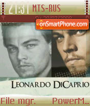 Leo Di Caprio theme screenshot