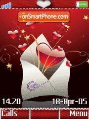 Love letter w910i es el tema de pantalla
