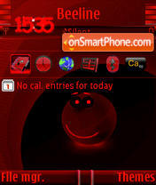 Smile Red theme screenshot