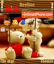 Teddy bear v2 s60v3 theme screenshot