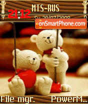 Teddy bear v2 s60v2 tema screenshot