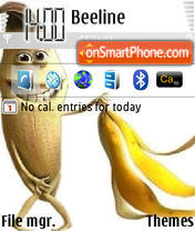 Nackte Banane theme screenshot