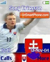 Slovakia Football theme screenshot