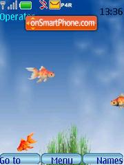 Gold fish animated es el tema de pantalla