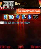 Diablo III theme screenshot