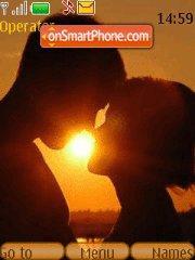 Love In Sunset tema screenshot