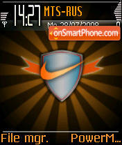 Orange Nike Logo tema screenshot