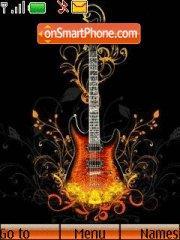 Capture d'écran Guitar thème