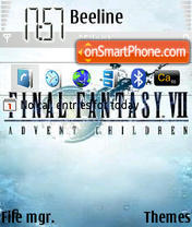 Скриншот темы Final Fantasy 7
