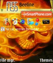 Скриншот темы Fire Skull