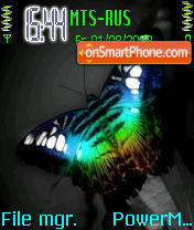 Effect butterfly theme screenshot