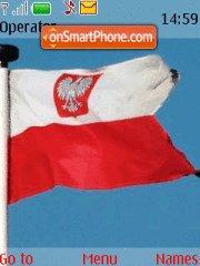 Poland Flag es el tema de pantalla