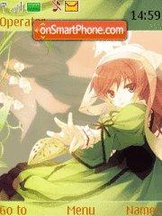 Скриншот темы Flower Girl 01
