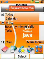 Java theme screenshot