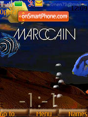 Marccain Clock (SFW) theme screenshot
