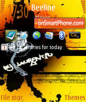 Black Music 240x320 theme screenshot