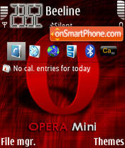Opera Mini 01 theme screenshot