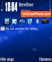 Symbianthemesus blue Default theme screenshot