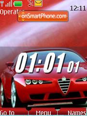 Auto clock (SWF) es el tema de pantalla