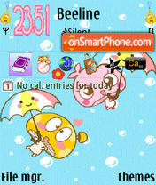 Orange monkey theme screenshot