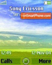 Nature sky theme screenshot